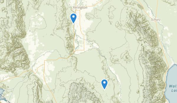 Yerington, Nevada Map