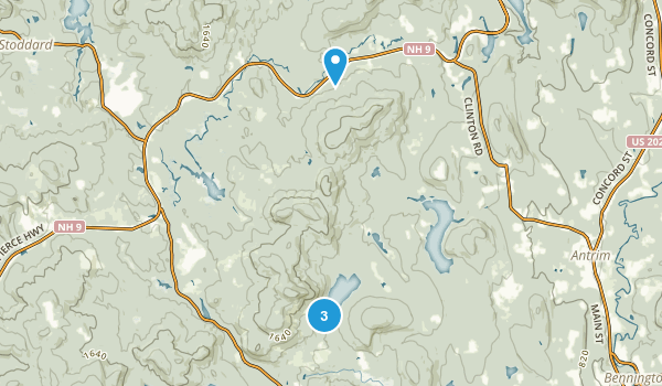 Antrim, New Hampshire Map