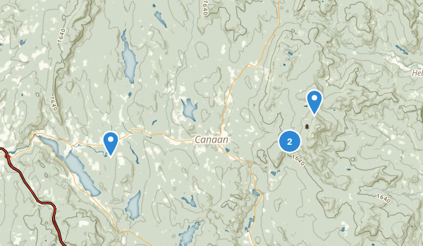 Canaan, New Hampshire Map