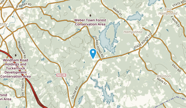 Chases Grove, New Hampshire Map