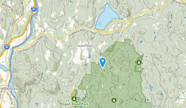 Chesterfield, New Hampshire Map