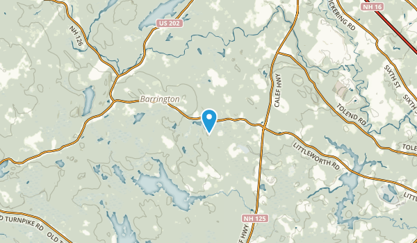 East Barrington, New Hampshire Map