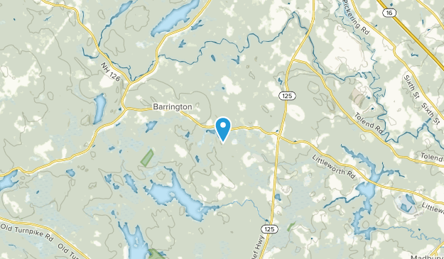East Barrington, New Hampshire Map