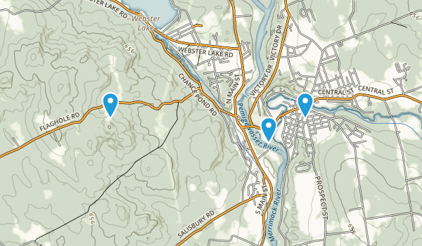 Franklin, New Hampshire Map