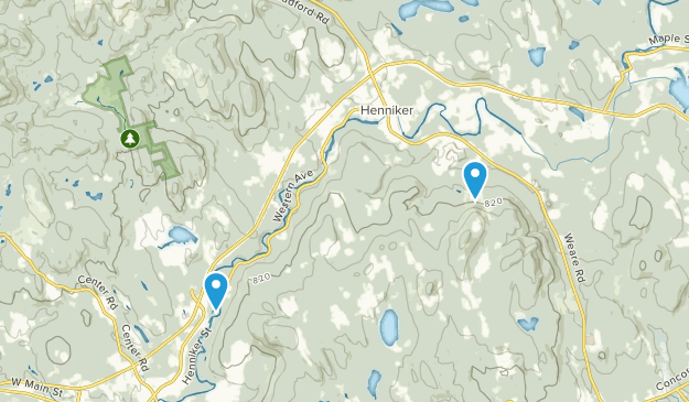 Henniker, New Hampshire Map