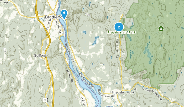 Hinsdale, New Hampshire Map