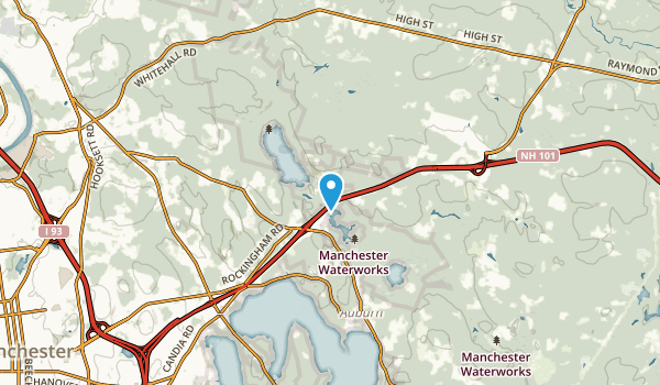 Hooks Crossing, New Hampshire Map