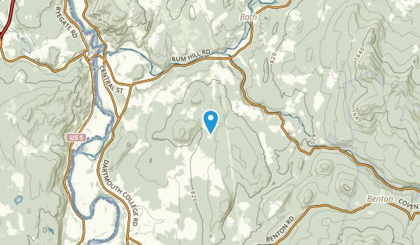Mountain Lakes, New Hampshire Map