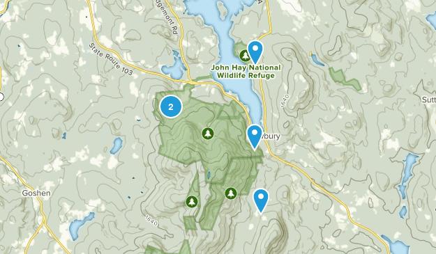 Newbury, New Hampshire Map
