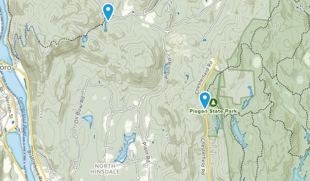 North Hinsdale, New Hampshire Map