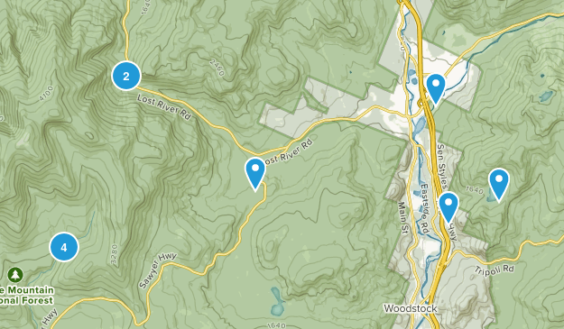 North Woodstock, New Hampshire Map