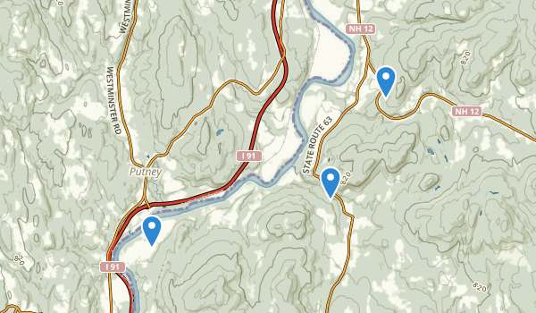 trail locations for Westmoreland, New Hampshire