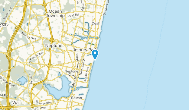 Avon-by-the-Sea, New Jersey Map
