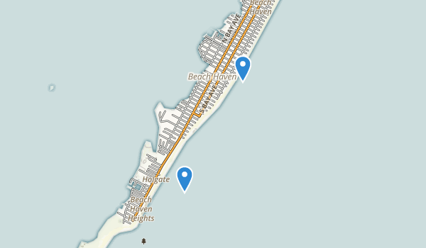 trail locations for Beach Haven, New Jersey