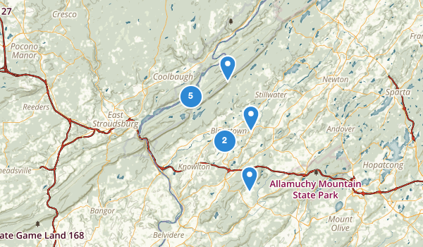 trail locations for Blairstown, New Jersey