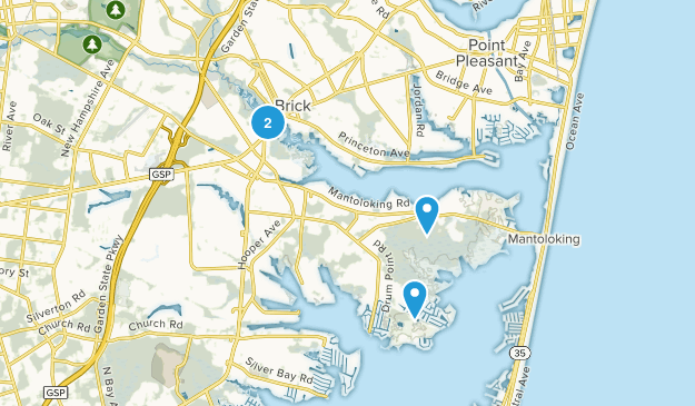 Brick, New Jersey Map