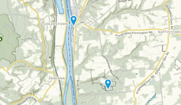 Frenchtown, New Jersey Map