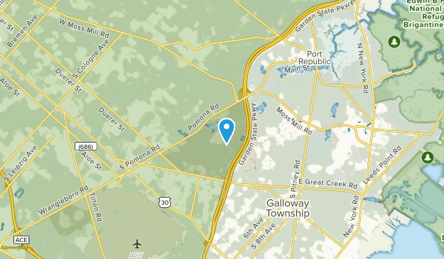 Galloway, New Jersey Map