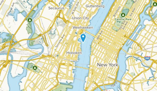 Hoboken, New Jersey Map
