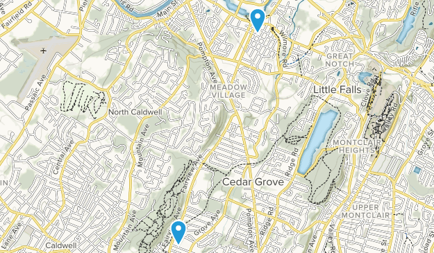 Little Falls, New Jersey Map