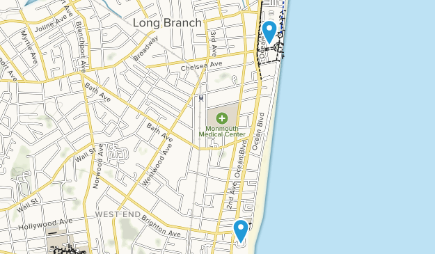Long Branch, New Jersey Map