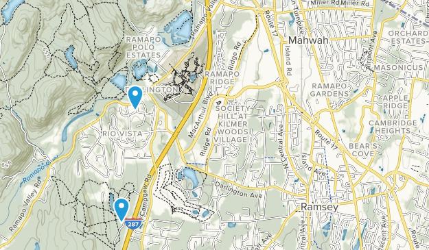 Mahwah Twp, New Jersey Map