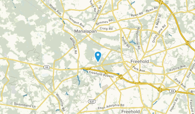 Manalapan Twp, New Jersey Map