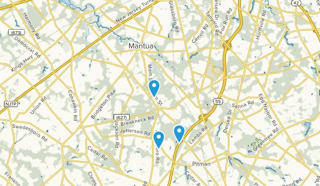 Mantua, New Jersey Map