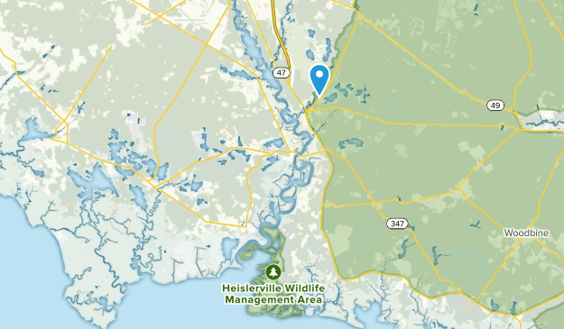 Maurice River, New Jersey Map
