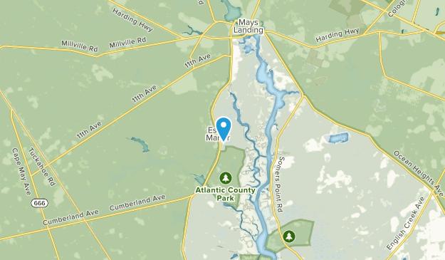 Mays Landing, New Jersey Map