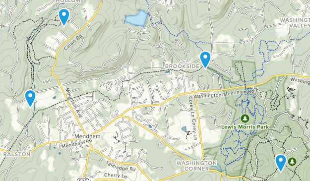Mendham, New Jersey Map