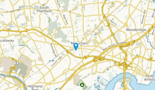 Metuchen, New Jersey Map