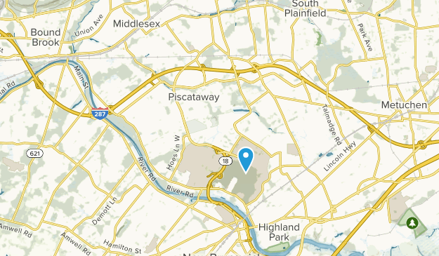 Piscataway Township, New Jersey Map
