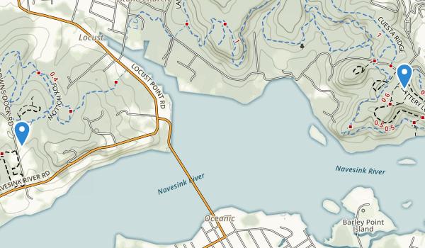 Rumson, New Jersey Map