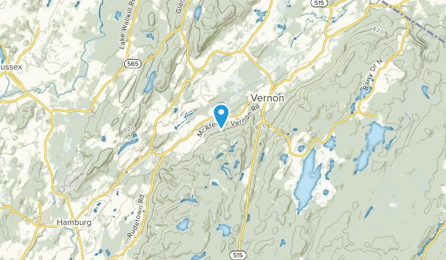 Vernon Center, New Jersey Map