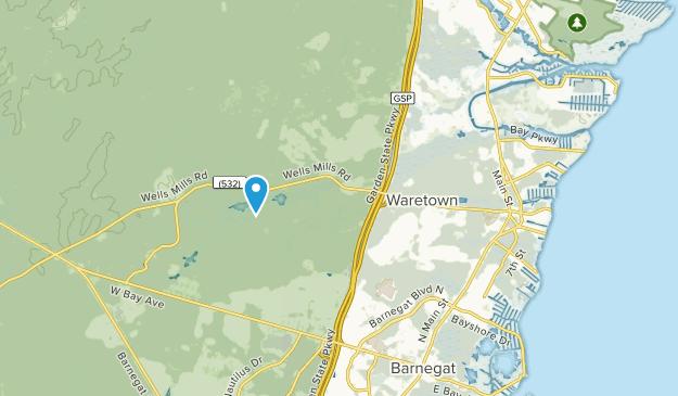 Waretown, New Jersey Map
