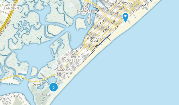 Wildwood, New Jersey Map