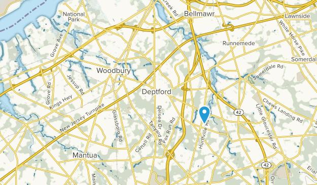 Woodbury, New Jersey Map