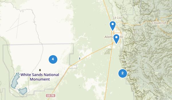 Alamogordo, New Mexico Map