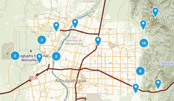 Best Trails Near Albuquerque New Mexico AllTrailscom - Albuquerque nm on us map