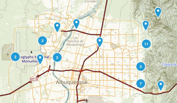 Best Trails Near Albuquerque New Mexico Photos - Albuquerque map