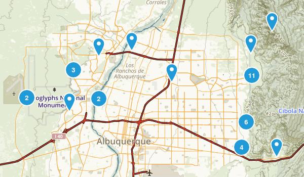 albuquerque new mexico map