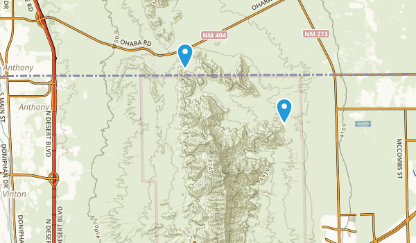 Anthony, New Mexico Map