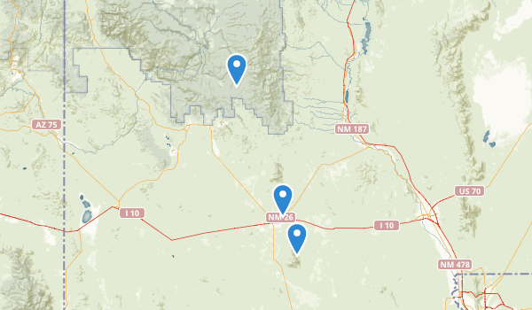 Deming, New Mexico Map
