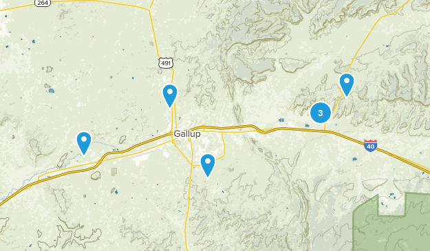 Gallup, New Mexico Map