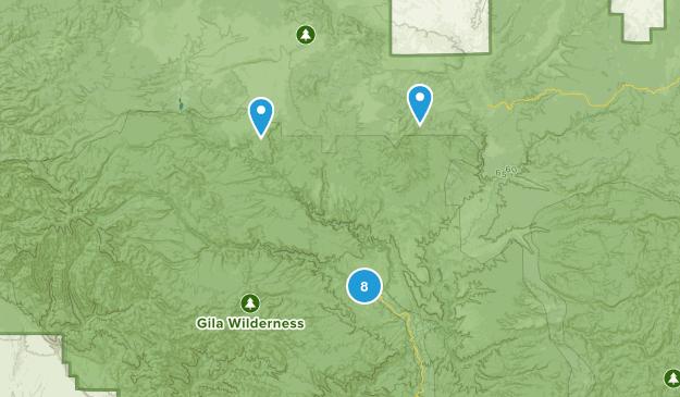 Gila Hot Springs, New Mexico Map