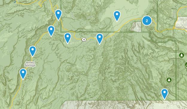 Jemez Springs, New Mexico Map