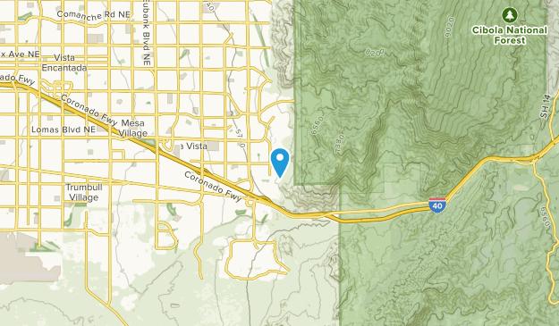La Cuesta, New Mexico Map