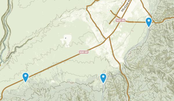 Ranchos de Taos, New Mexico Map