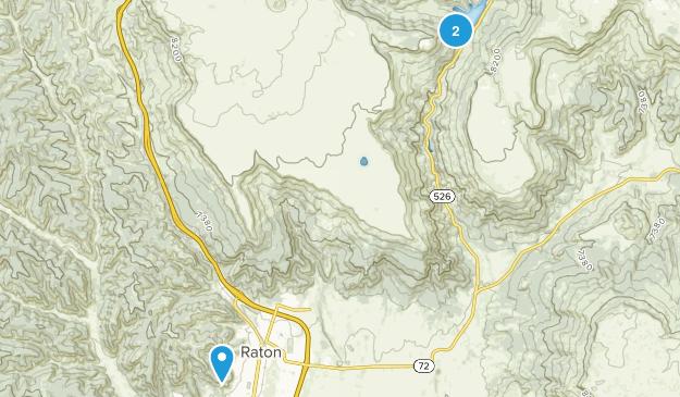 Raton, New Mexico Map